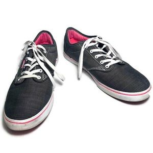 Vans Gray and Pink Canvas Shoes